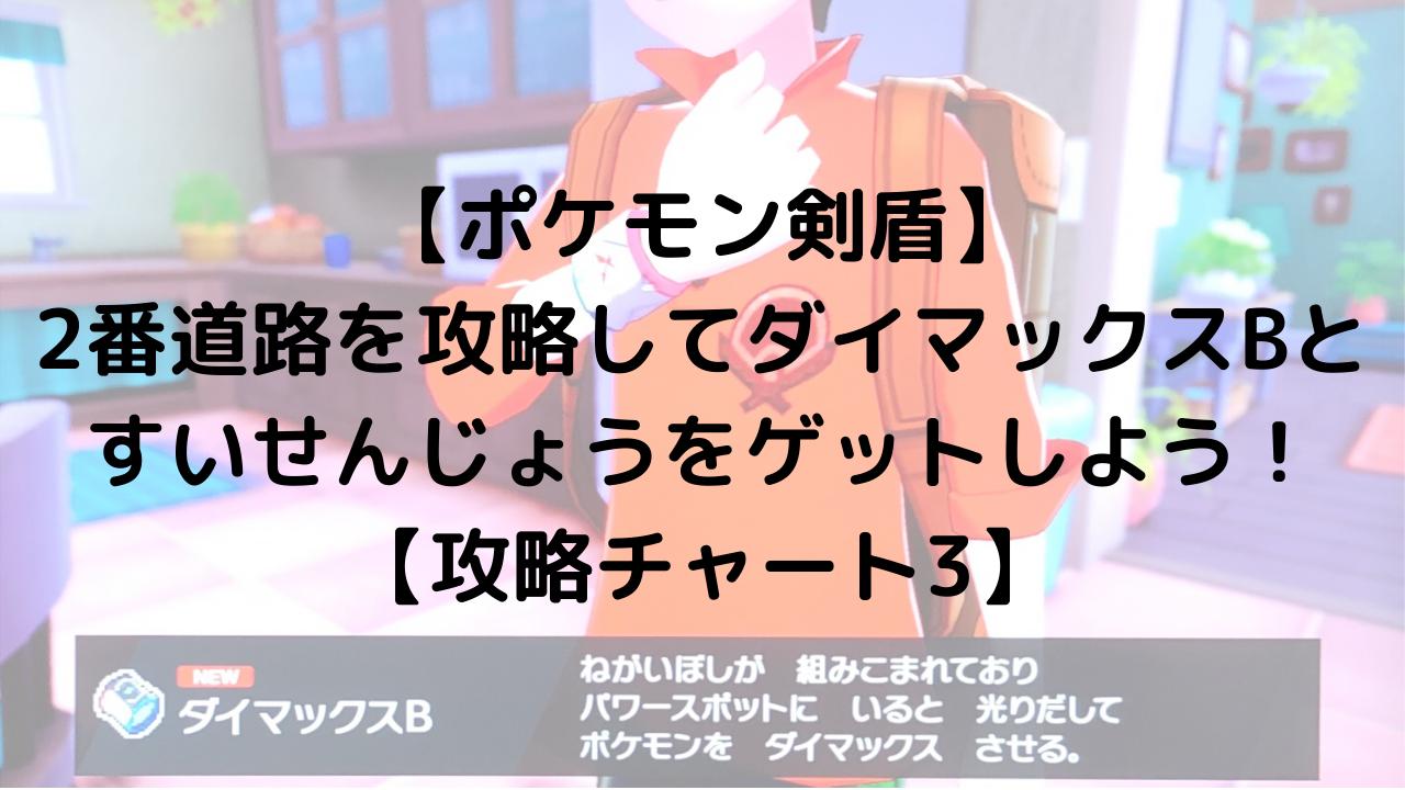 【ポケモン剣盾】 2番道路を攻略してダイマックスBとすいせんじょうをゲットしよう!【攻略チャート3】
