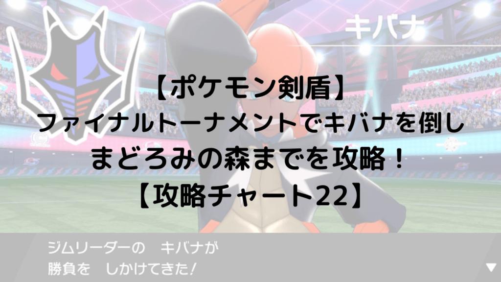 【ポケモン剣盾】 ファイナルトーナメントでキバナを倒し まどろみの森までを攻略! 【攻略チャート22】