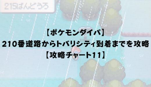 【ポケモンダイパ】 210番道路からトバリシティ到着までを攻略【攻略チャート11】